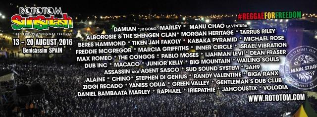 Más de 70 países, a ritmo de reggae 'for freedom' en el Rototom 2016