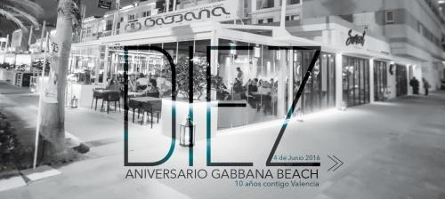 Décimo Aniversario, Gabbana Beach